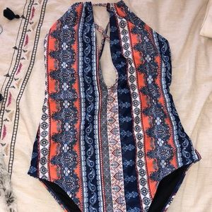 Other - Tribal Print One-piece Swimsuit